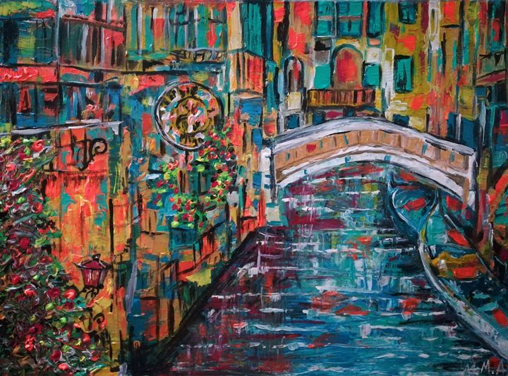 Venice Italy restauran - POWER MAGICAL PAINTING