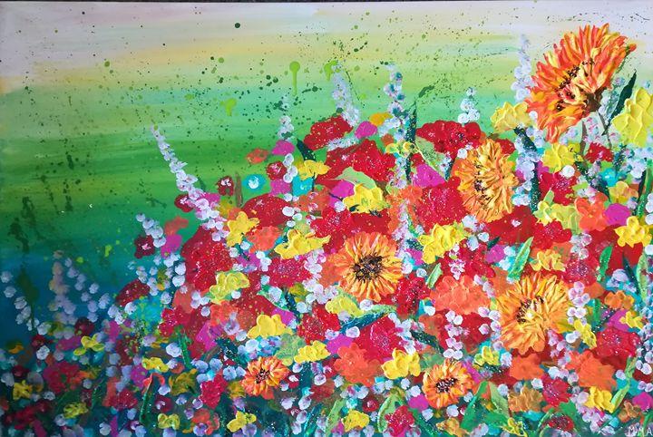 Land garden flowers - MARIA MAGIC ART