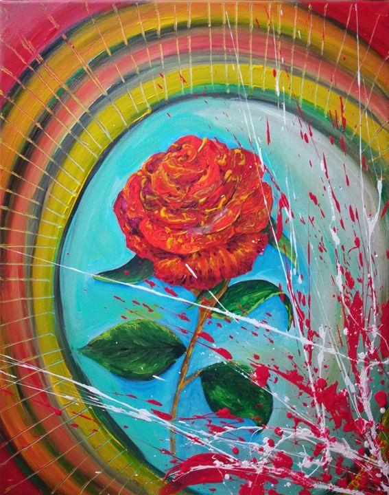 VALENTINE RED FLOWER - MARIA MAGIC ART