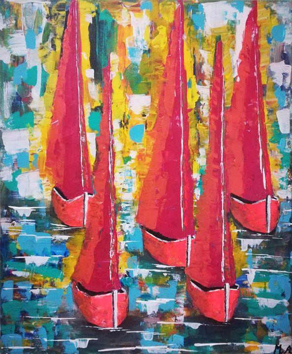 Boats - MARIA MAGIC ART