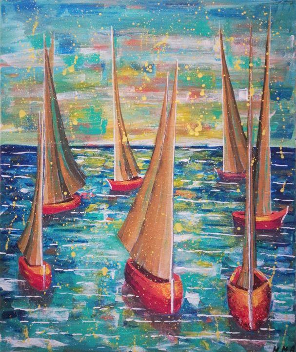 Competition Boats Sailboat - MARIA MAGIC ART