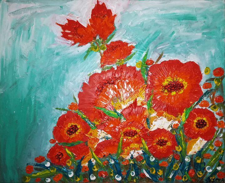 Red flowers - MARIA MAGIC ART