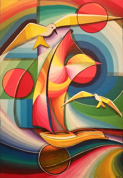 Fly in the sea sky - MARIA MAGIC ART