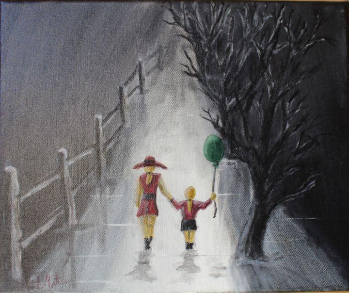 going home. - billys art...