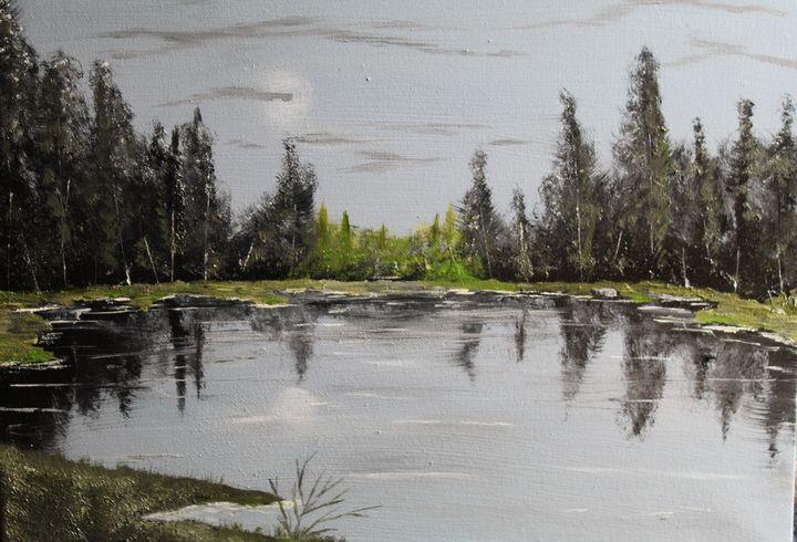 lake at midnight. - billys art...