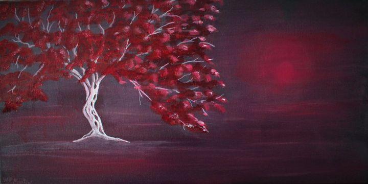 the red tree... - billys art...