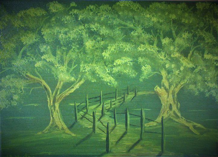 green wood... - billys art...