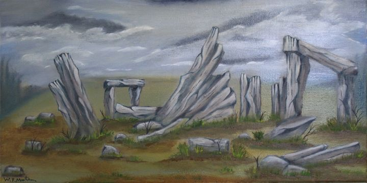 the construction of stonehenge... - billys art...