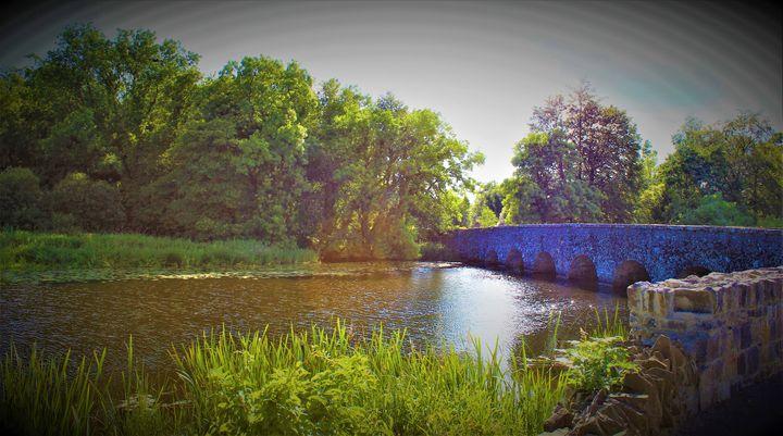 stone bridge... - billys art...