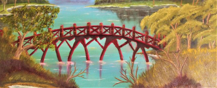 red bridge... - billys art...