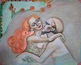 Lovers- An original art work, oil on