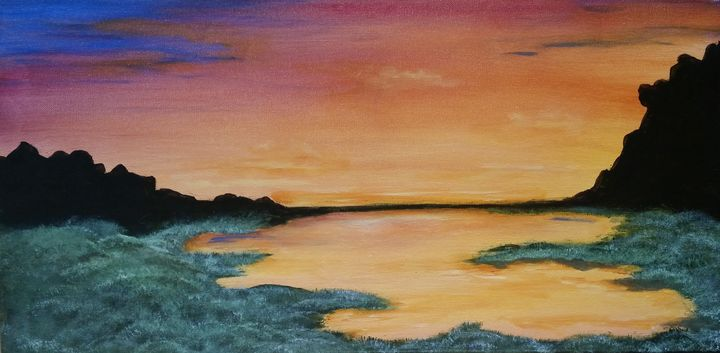 Yellow Morning at the Pond - Red Fish Art Studio