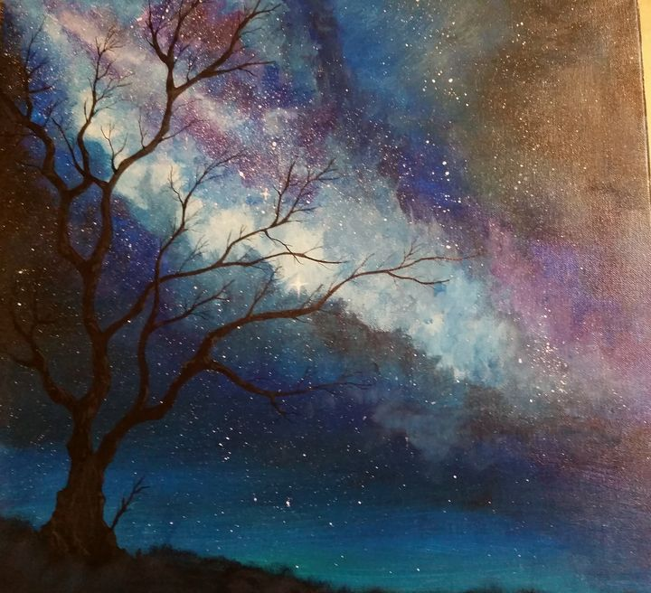 Nebula Tree - Red Fish Art Studio