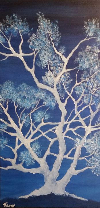 Blue Tree - Red Fish Art Studio