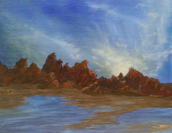Rocky Beach - Red Fish Art Studio