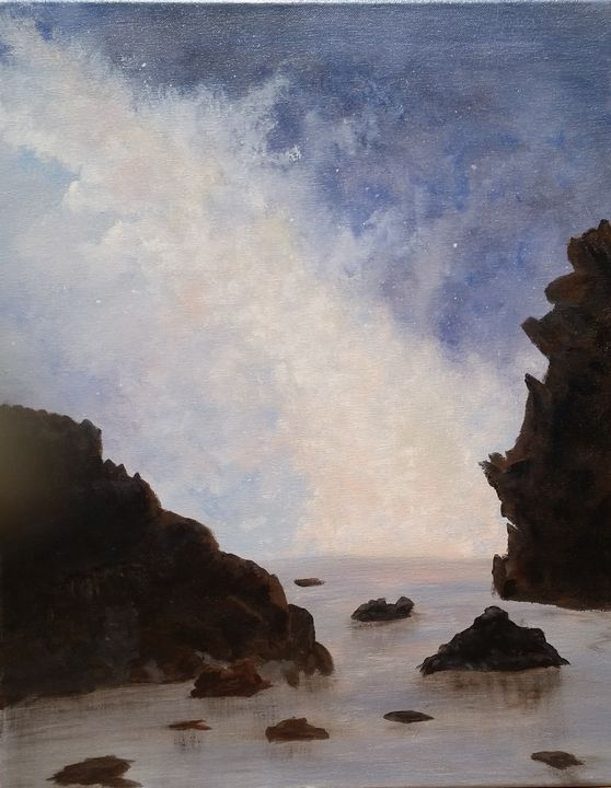 Twilight Shore - Red Fish Art Studio