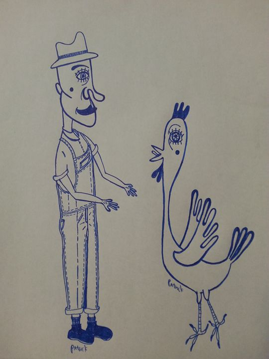 Farmers and chicken - PHancy1