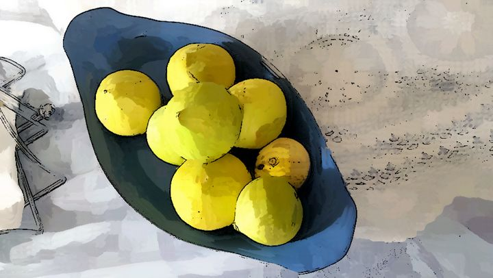Fresh Figs In A Blue Plate - Michael A. Galianos