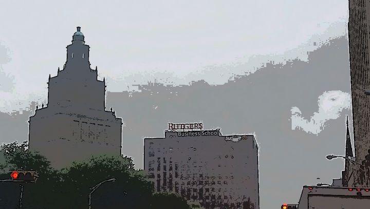 Newark In The Rain - Michael A. Galianos
