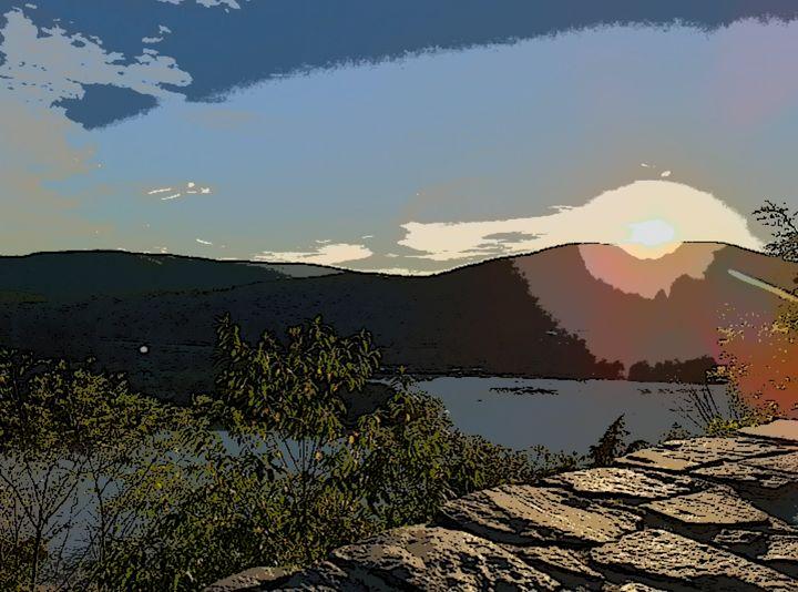 Sunset on the Hudson - Michael A. Galianos