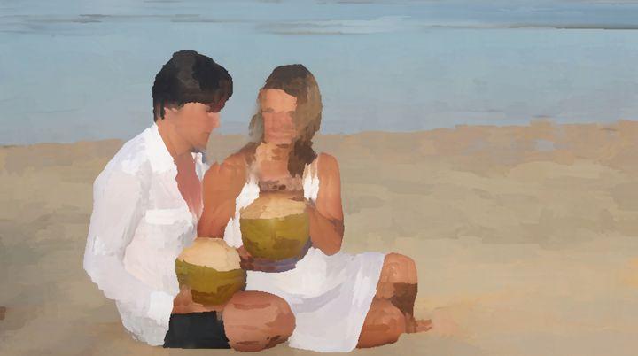 Couple On A Beach - Michael A. Galianos