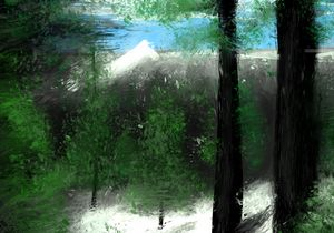 Snowy Forest Slope