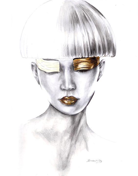 gold lips - Elina Sheripova