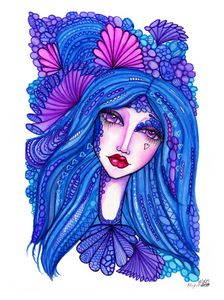 ZenTangle Whimsical Faery/Goddess