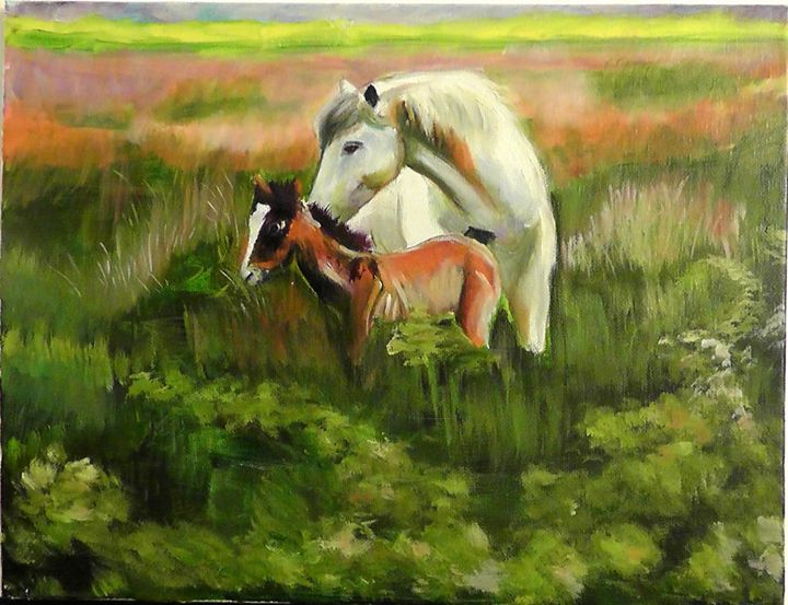 Horses - Heqi Wang ARTWORKS