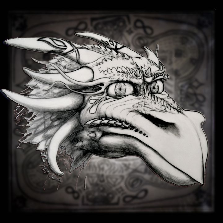 Dragon Head 1 - Art of Walter James Idema