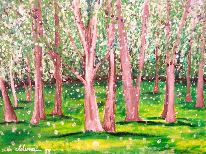 Riverside Park, Summer Solstice - Art of Walter James Idema