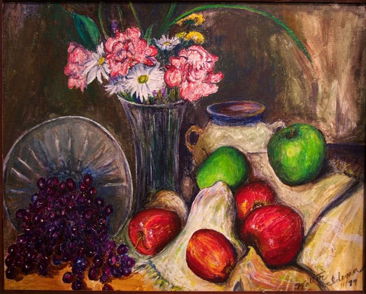 Apples and Grapes (Still Life) - Art of Walter James Idema