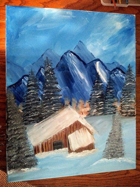 Cabin in the snow - Em's