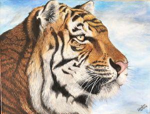 Original acrylic tiger painting