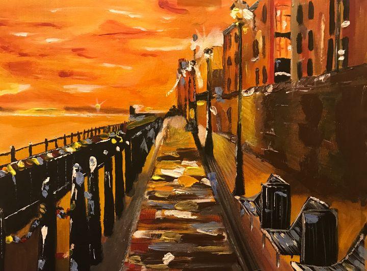 Liverpool Docks at dawn - John Nogger