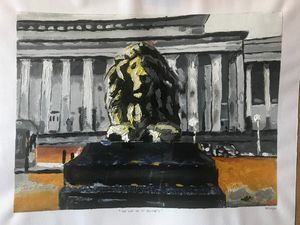 The lion of St George's Hall