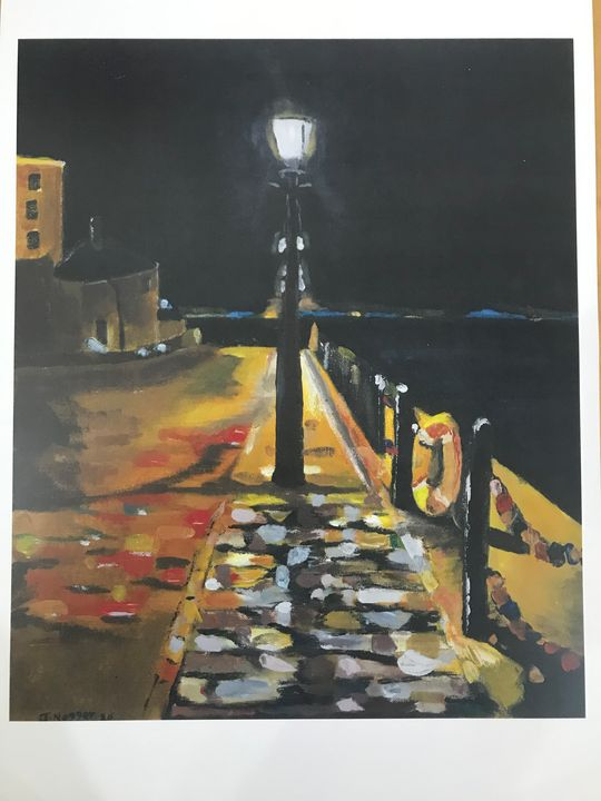 Liverpool docks at night - John Nogger