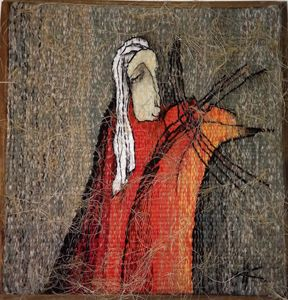 Tapestry ''Violinist'' 35x35 cm - Modern tapestry