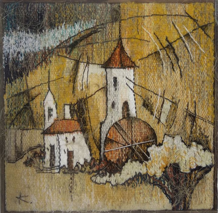 "Tapestry ''French mill""  48x48cm - Modern tapestry"