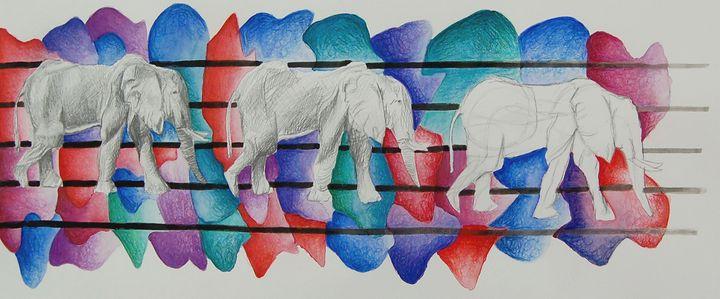 Elephants - Bednarek Art