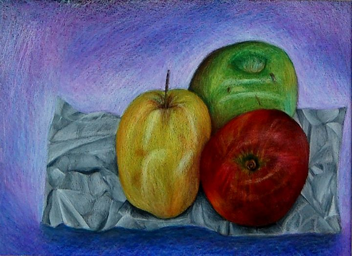 Apples on paper - Bednarek Art