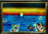 Original Painting of Last sunset