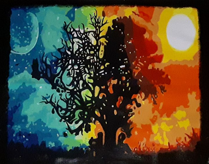 Fire and Ice Tree Painted - The Beauty that Surrounds Us