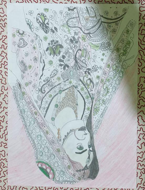 Indian bridal painting - abrar firoze