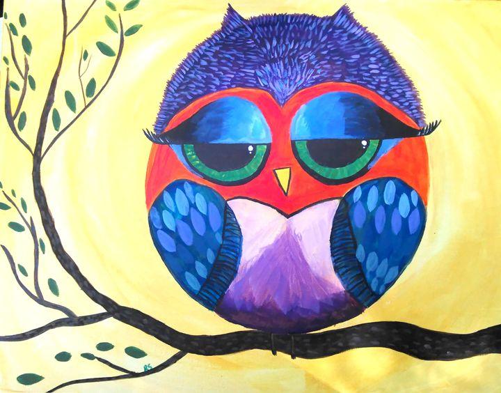 Sleepy eyed owl - Rachel smith