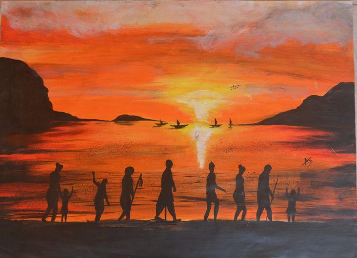 Sunset in beach - AJITH