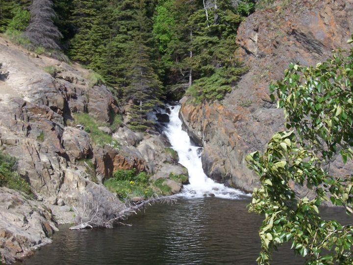 Waterfall in Alaska - Howard's Photography LLC