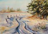 Original watercolor painting 38.5 x