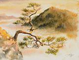 Original watercolor painting 40x30 c