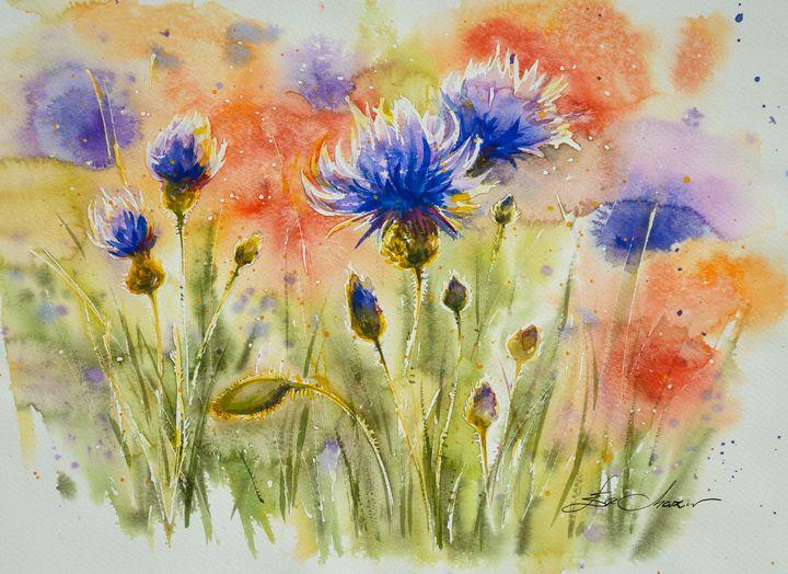 Blue cornflowers - Eve Mazur